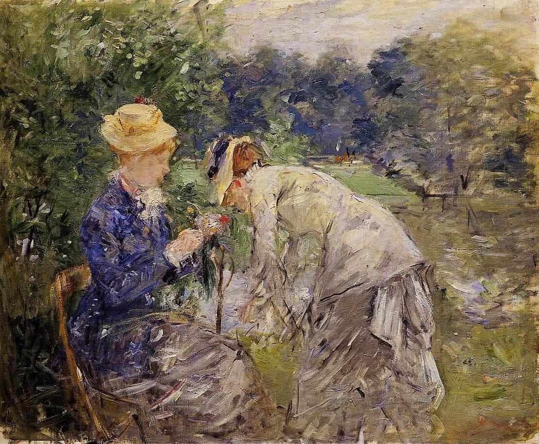 """""""In the Bois de Boulogne"""" por Berthe Morisot"""