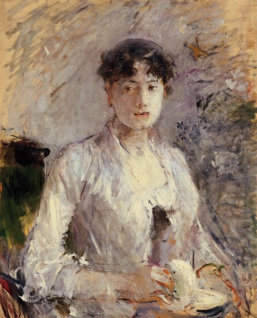 """""""Young Woman in Mauve"""" por Berthe Morisot"""